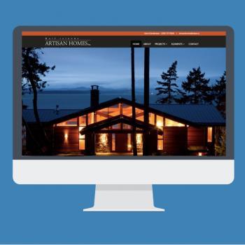 Artisan Homes Website design by Virtual Wave Media