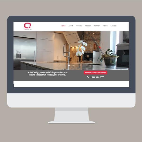 IMDesign aluminum kitchen design website screenshot webdesign by Virtual Wave Media